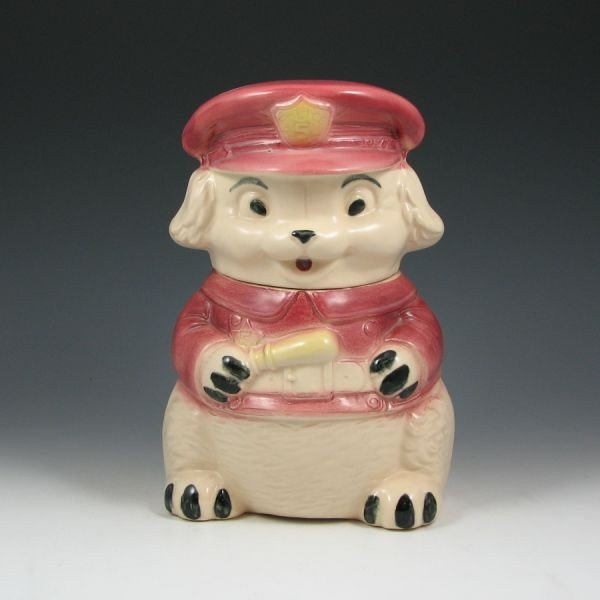 10: Brush Puppy Police Cookie Jar
