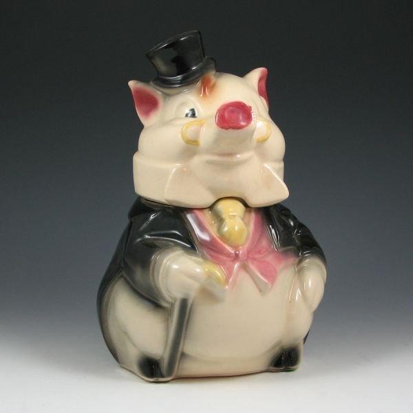 12: Brush Formal Pig Cookie Jar - Excellent