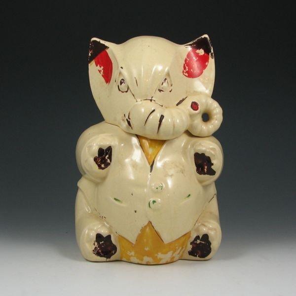 22: McCoy Elephant (Whole Trunk) Cookie Jar