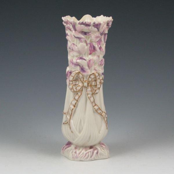 6: Belleek Celery Spill Vase - 1st Black