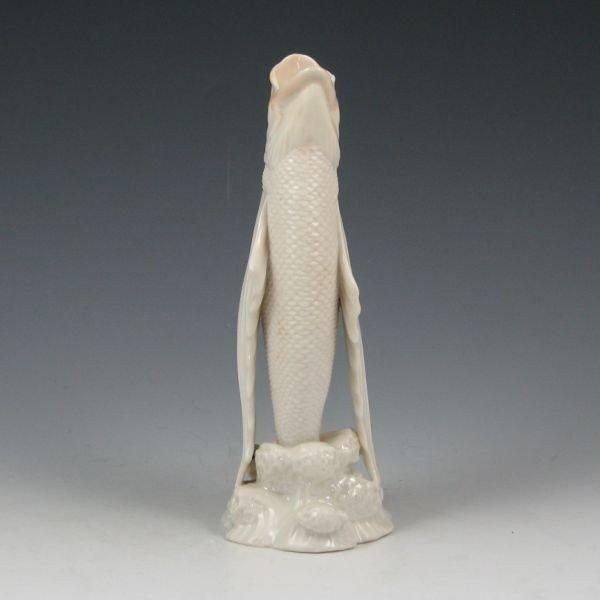 7: Belleek Fish Spill Vase - 1st Black - 2