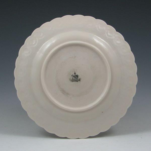 """50: Belleek Institute Ware 7 3/8"""" Plate - 1st Black - 2"""