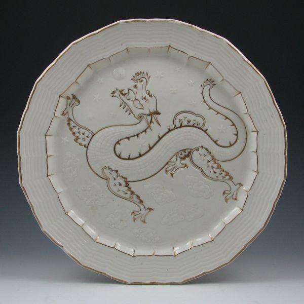 72: Belleek Chinese Tray - 1st Black & Registry