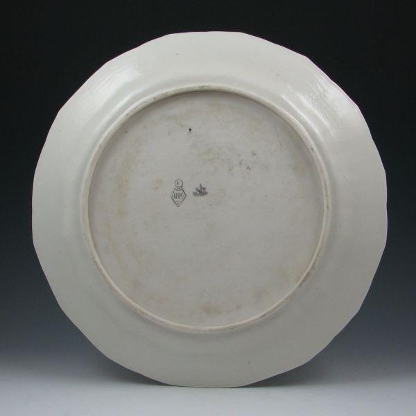 72: Belleek Chinese Tray - 1st Black & Registry - 2