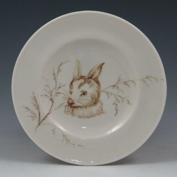 "97: Belleek 5 7/8"" Plate w/ Rabbit - 1st Black"