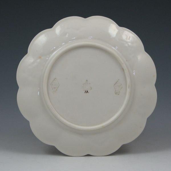 """99: Belleek Thorn 6 7/8"""" Plate - 1st Black & Registry - 2"""
