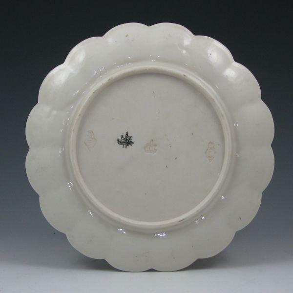 """101: Belleek Thorn 9 3/8"""" Plate - 1st Black & Registry - 2"""