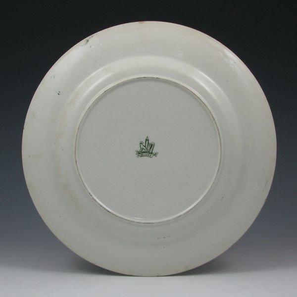 """102: Belleek 10 3/8"""" Earthenware Plate - 1st Black - 2"""