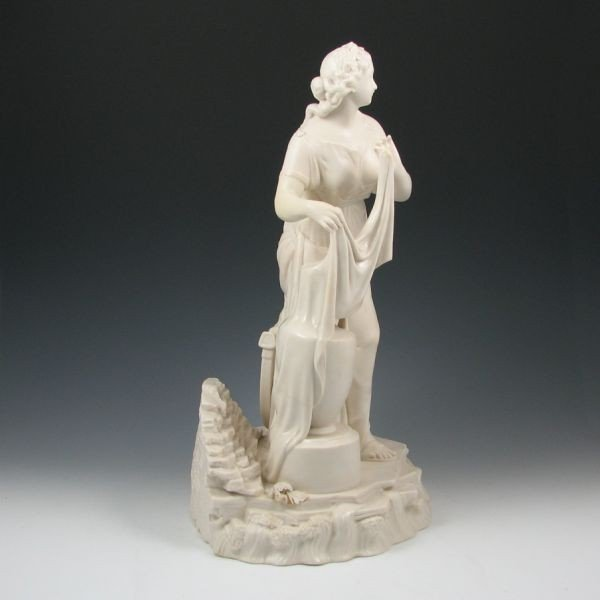 104: Belleek Figure Of Erin - 1st Black - 2