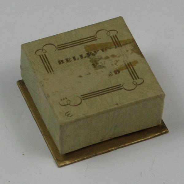 106: Belleek Floral Brooch In Box - 1st Black - 4