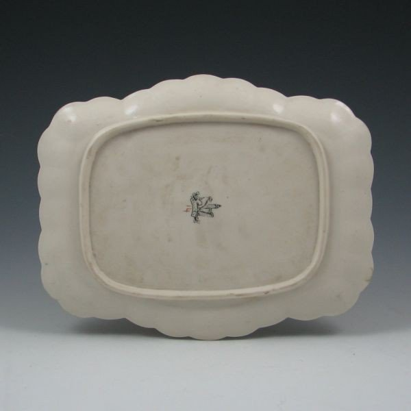 114: Belleek Thorn Tray w/ Gold & Blue - 1st Black - 2