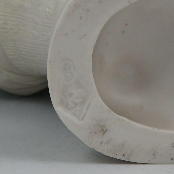 120: Parian Hand & Basket Planter - British Reg. Mark - 4