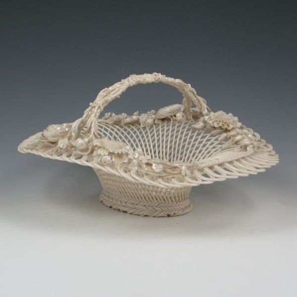 124: Belleek Three-Strand Floral Basket (1890-1920) - 2