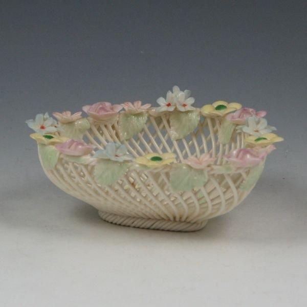 132: Belleek Four-Strand Floral Basket (1980-1985)