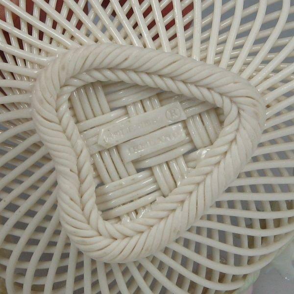 132: Belleek Four-Strand Floral Basket (1980-1985) - 3