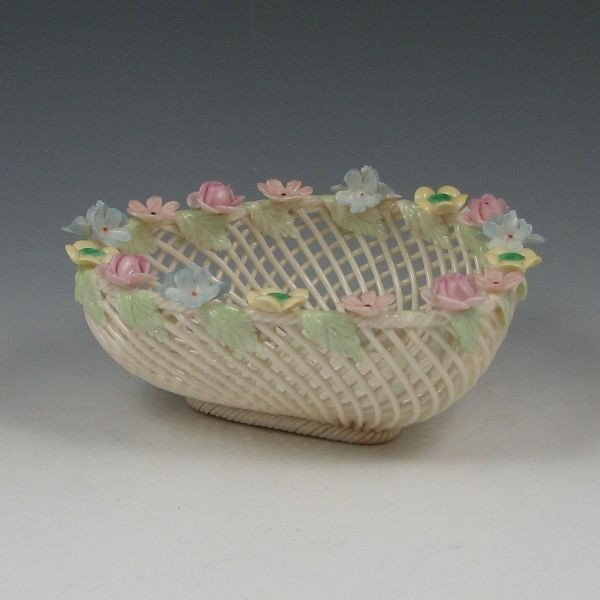 133: Belleek Four-Strand Floral Basket (1955-1979)
