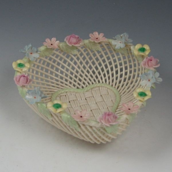 133: Belleek Four-Strand Floral Basket (1955-1979) - 2