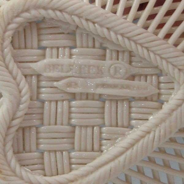 133: Belleek Four-Strand Floral Basket (1955-1979) - 3