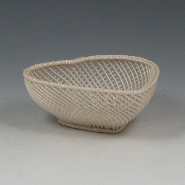 134: Belleek Four-Strand Heart Basket (1921-1954)