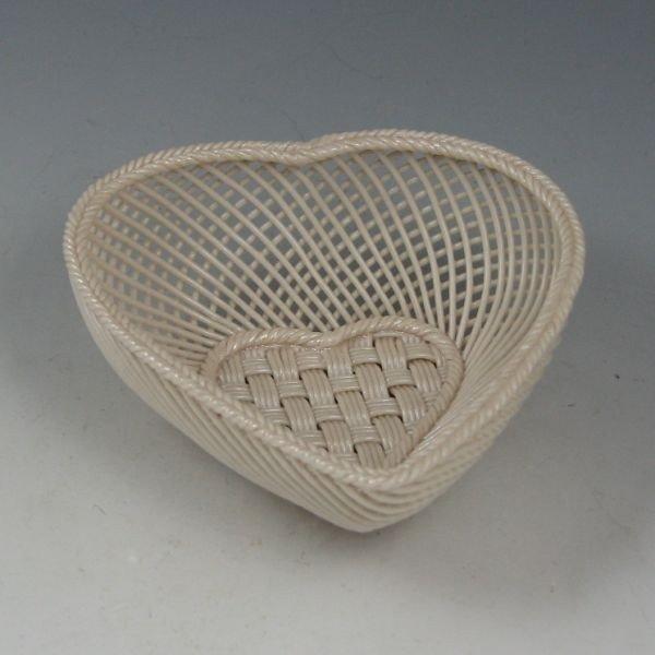134: Belleek Four-Strand Heart Basket (1921-1954) - 2