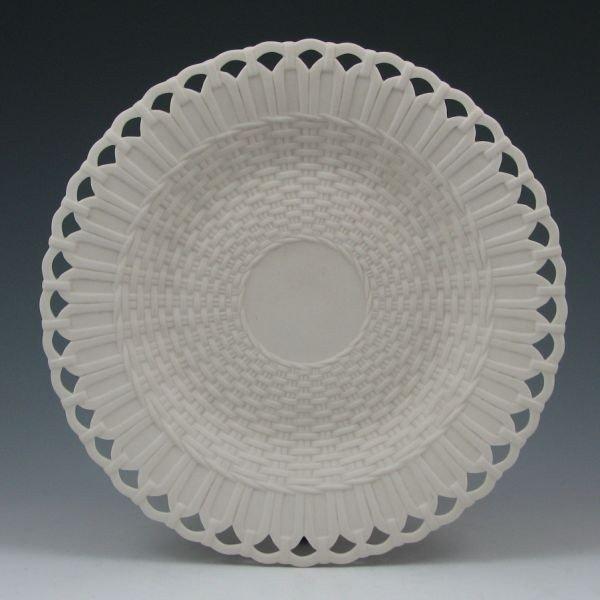 """144: Belleek 9 1/4"""" Pierced Plate - Co. Fermanagh"""