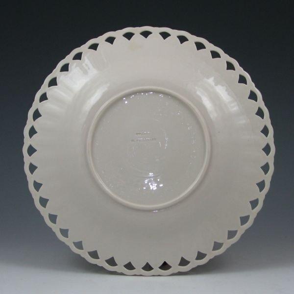 """144: Belleek 9 1/4"""" Pierced Plate - Co. Fermanagh - 2"""