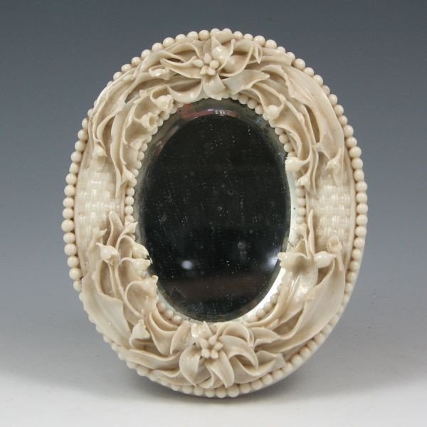 146: Belleek Lily Of The Valley Mirror Frame