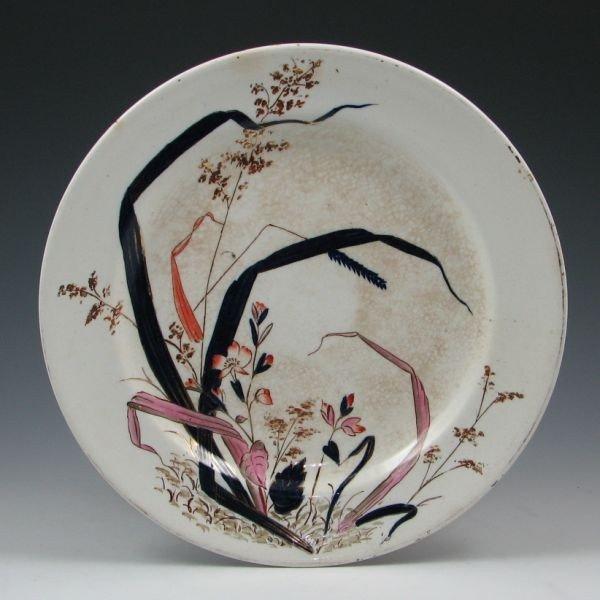 152: Belleek Earthenware Decorated Plate - 1st Black