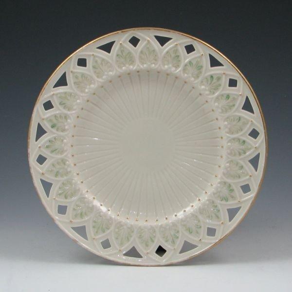 155: Belleek Greek Plate - 1st Black & Co. Fermanagh