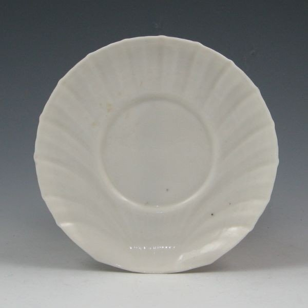 """174: Parian China 5 3/4"""" Shell Saucer - Excellent"""