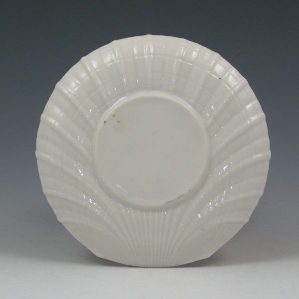 """174: Parian China 5 3/4"""" Shell Saucer - Excellent - 2"""