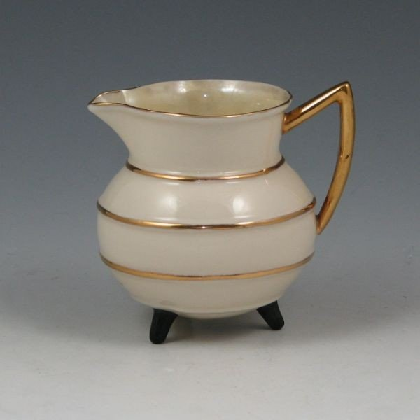 176: Belleek Irish Cream Pot - 2nd Black