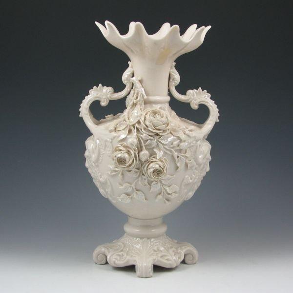 177: Belleek Masks Vase - 2nd Black