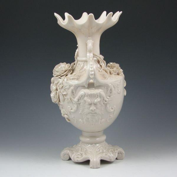 177: Belleek Masks Vase - 2nd Black - 2