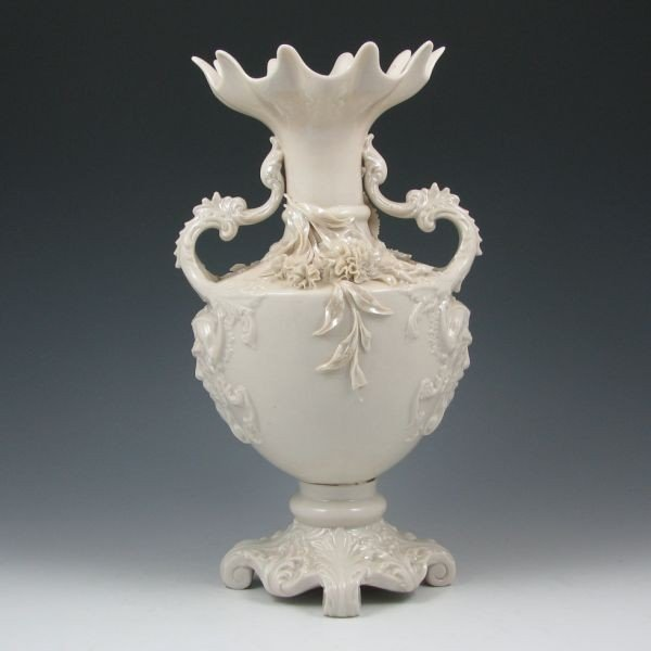 177: Belleek Masks Vase - 2nd Black - 3
