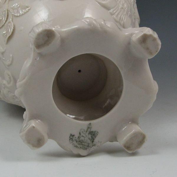 177: Belleek Masks Vase - 2nd Black - 4