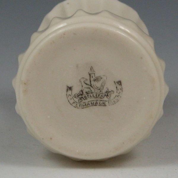 185: Belleek Fluted Spill Vase - 2nd Black - 2