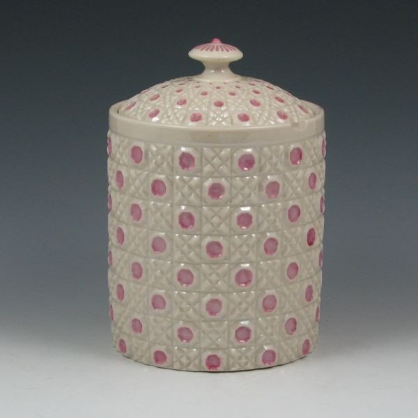 196: Belleek Rathmore Biscuit Jar - 2nd Black