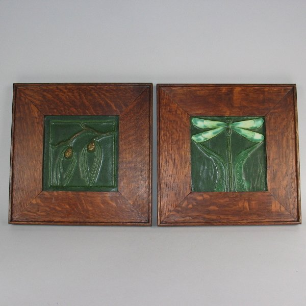 22: Ephraim Arts & Crafts Framed Tiles (Two) from 1999