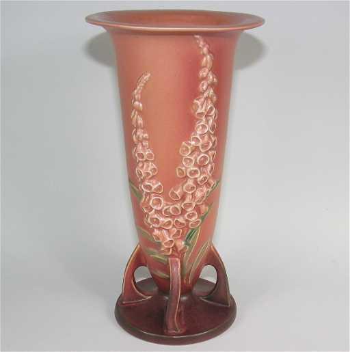 460 Roseville Foxglove 53 14 Vase Mint
