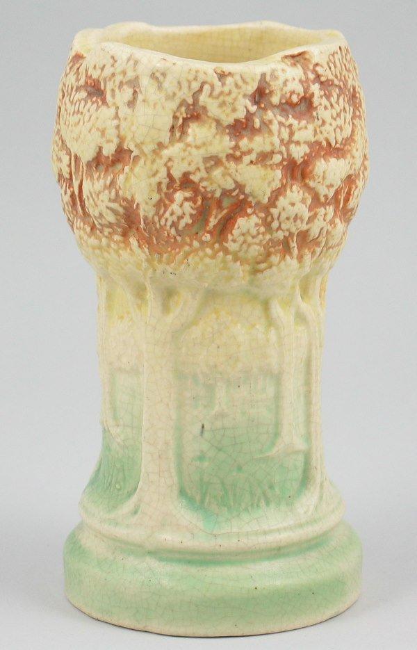 """445: Brush McCoy Sylvan 6"""" Vase - Mint"""