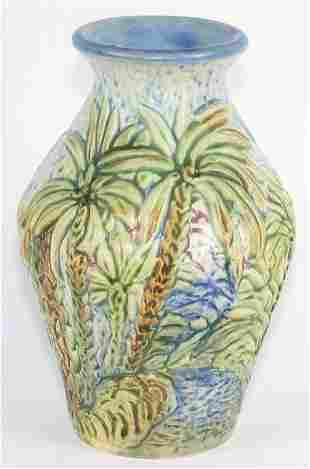 """Weller Glendale 6 5/8"""" Vase Mint"""