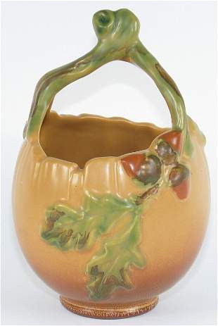 """Weller Oak Leaf 7 3/8"""" Basket Mint"""