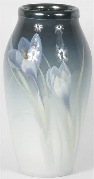 """Rookwood Iris 6 1/2"""" Vase Schmidt Mint"""