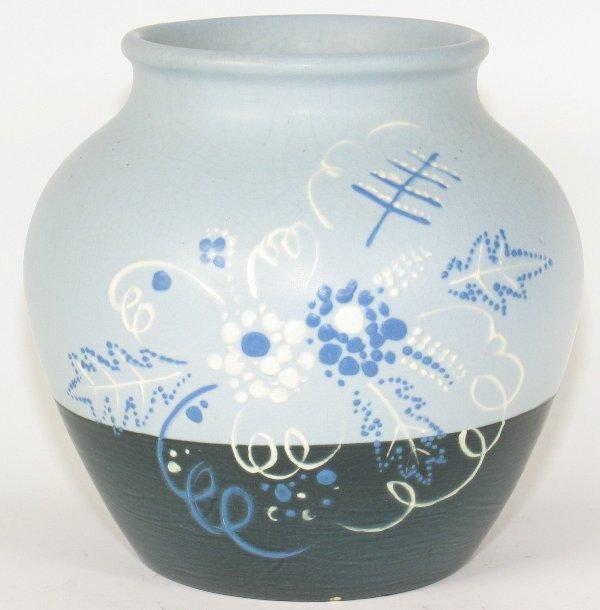 """5: Weller Raceme 6"""" Vase Artist Signed - Mint"""