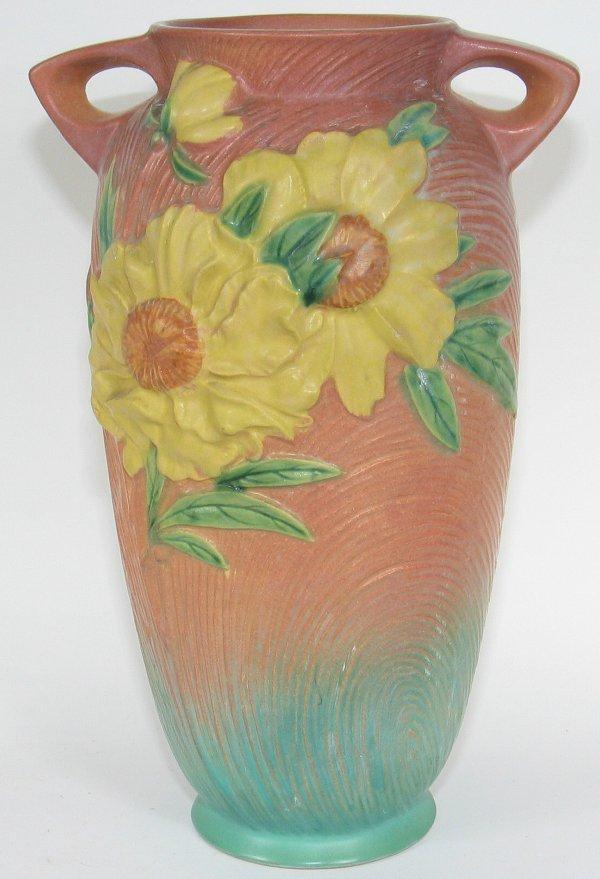 "20: Roseville Peony 12"" Vase"