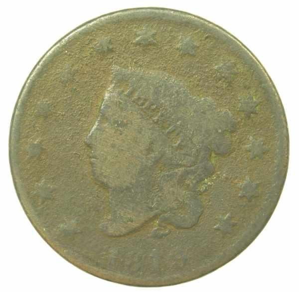 5: 1819 Large Cent  AG-3