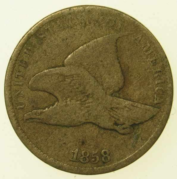 20: 1858 Small Letters Flying Eagle Cent G-4