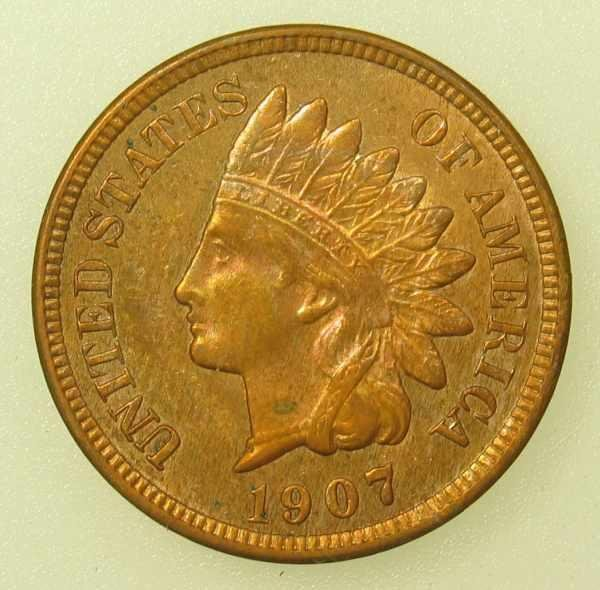 24: 1907 Indian Head Cent Choice Uncirculated