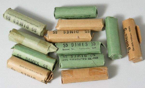 3: Twelve Old Rolls of Mercury Dimes